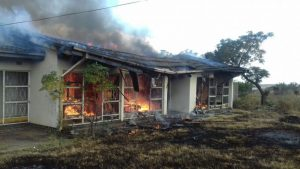 North West farming town Coligny resembled a war zone after several houses where torched and properties damaged during riots