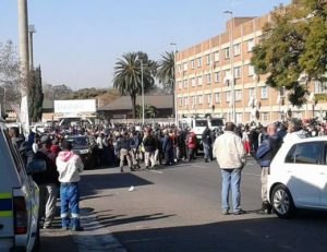 Protests disrupt normal hospital procedures - the staff are sitting in fear