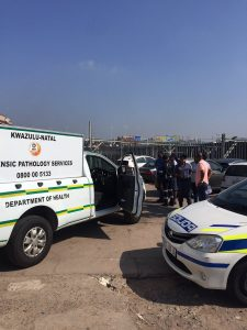 "Two people have been arrested in connection with the discovery of a unidentified Human head that was found in a backpack in the CBD on Friday morning. It is alleged that one of the accused men had phoned a sangoma, saying that he had the head of a human for sale. The sangoma agreed to meet him in a parking lot on Short Street at 9am on Friday morning. It is not clear who tipped off the police, but the both were arrested before the sale could take place. It is alleged that the man tried to flee over a wall into the nearby railway lines when police arrived, but he was apprehended by the parking lot security guard who thought he was attempting to steal a car. A black backpack was found with the head concealed inside two plastic packets. The sangoma, dressed in Zulu traditional gear, was also arrested. It is alleged that the man had cut off the head in the early hours of this morning. It is unclear what price the man had asked for the head. Lieutenant-Colonel Thulani Zwane said police were still piecing together what had transpired. Hundreds of curious onlookers chanted ""Show us the head!"" before police moved them back and cordoned off the road. KZN police say they believe they found the body, belonging to a human head, that was discovered in the bag of a man in the Durban CBD yesterday. ""After an intense investigation - the members went to Cato Manor where they found the body of a man without the head. We suspect that the same head belongs to the human body that was found in Cato Manor. ""Therefore, the man was charged for murder. We are expecting to make more arrests regarding this case. The arrested suspect, a 24-year-old, was willing to co-operate with the police,"" he says."