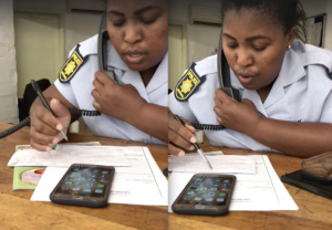 WATCH | SAPS OFFICER REFUSES TO HELP, SAYS I NEED TO SORT OUT MY DSTV – VIDEO GOES VIRAL