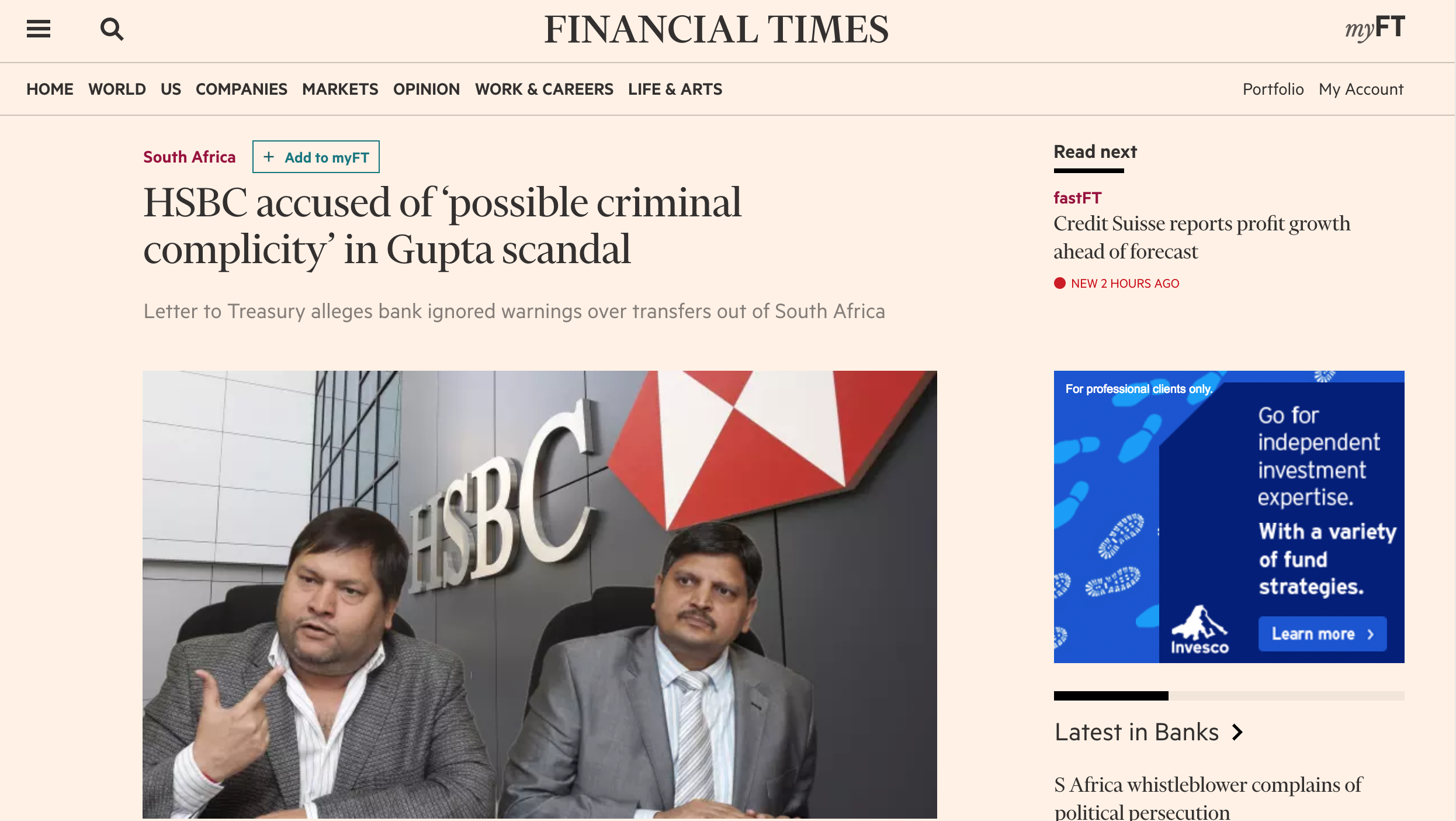 how world sees south africa hsbc ignored warnings over illicit