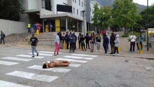 #FeesMustFall protest - Naked woman arrested at UCT