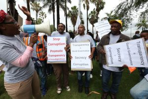Protesters gather outside Durban ICC over city's proposed 'secrecy' law