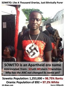 Soweto township racism