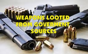 More Weapons Looted from Government Sources