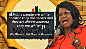 White people are white because they are cheats and they are cheats because they are white - ANC Mayor