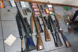 Safe full of weapons found in Hotazel near Kuruman in the Northen Cape