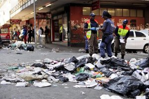 Another stinking mess hits the streets of Johannesburg