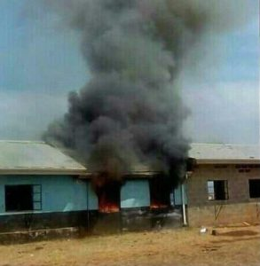 Pupils from Esokheni Secondary School torch 'ugly' school and demand breakfast be served: I will say no more!