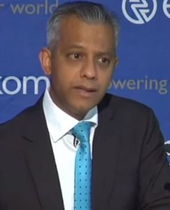 Eskom financial director Anoj Singh.