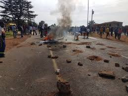 Krugersdorp plunged into chaos because of protest marches against poor policing