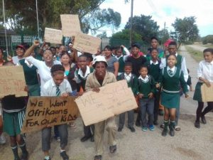 Afrikaans-speaking parents threaten to close school