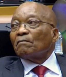 Jacob Zuma in the National Assembly on Thursday night.