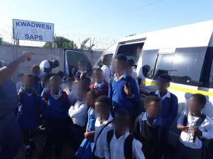 The African way - 50 pupils in taxi with room for 15