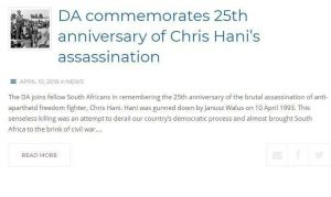 DA WANTS TO COMMEMORATE COMMUNISM