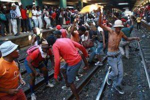 Cape Town station chaos