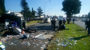 Two cash-in-transit vans bombed in Boksburg heist