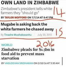 "SA take notice of the following -""Zimbabwe needs the white man"" says outgoing Zanu-PF MP"