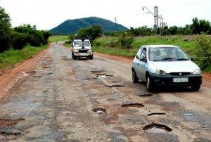 It's a joke – Potholes get struggle-names