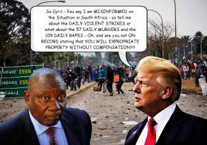 Ramaphosa says that Trump did not have the correct information when he made his statement about land settlement - apparently no land expropriation will take place. Who is he trying to bluff?
