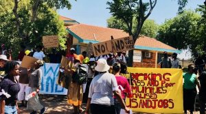 "No land no vote! - Freedom Park residents protesting over ""empty land promises"