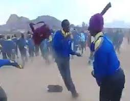 WATCH | Black school boys in South-Africa attack each other with pangas!