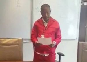 Comrade Julius Malema sworn in as a member of Joint Committee on Ethics and Members Interest in Parliament - what a joke!