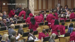 SA parliament a complete circus - Brawl breaks out between MP members during a National Assembly seating where president Ramaphosa was responding to questions in parliament