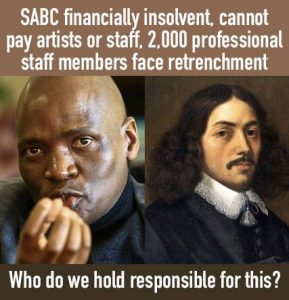 BEE ,Affirmative Action policies incorporated by the ruling ANC-regime and corruption is to blame for the financial ruin of a once flourishing SABC