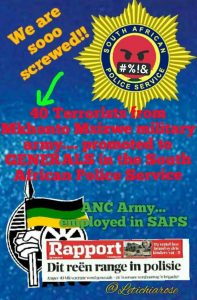 Worst is yet to come in SA! Police to promote MK, Apla freedom fighters to top rank, former MK and Apla members in the police service will then be officers