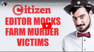 Horrific! Editor of the Citizen thought it would be hilarious to mock SA farm murder victims – This man is a disgrace!