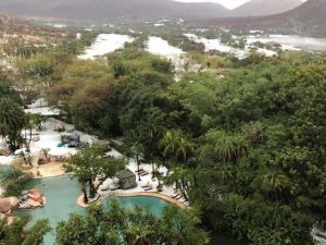 Only in South Africa where people still believe in mythical superstitions - the latest one is that a water snake is the cause of a storm that has hit Sun City recently, and where thousands of rands of damage was caused