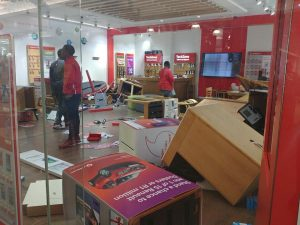 Eff thugs at it again – Vodacom stores in Polokwane mall vandalized in the name of democracy, no arrests been made yet