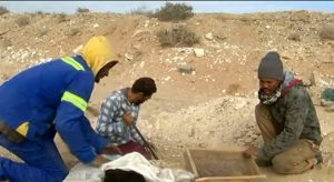 Small coastal village in Northern Cape, Kleinsee is flooded with illegal diamond miners