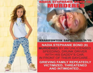 What is the police hiding? Why don't they want to investigate the Death of Nadia Stephanie Bond? Could it be that the suspect's daddy attains a high position or have friends with high ranks?
