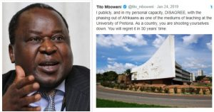 'You will regret it in 30 years time': Tito Mboweni on scrapping Afrikaans at UP