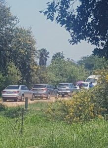 Illegal land grabs in North West province took place during the weekend and SAPS were unresponsive, ignoring calls for help - Notice the cars driven by the land thieves in the picture attached