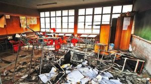 The unbridled destruction and vandalism of schools continues in South Africa and already costs the taxpayer millions of Rands - Yet the Afrikanas insist on quality education and free education while continuing their looting