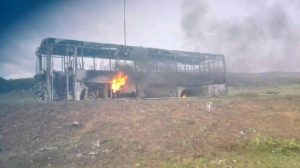 SA characterised by chaos and violence – Angry protesters barricaded roads with burning tires and set bus alight in Eastern-Cape