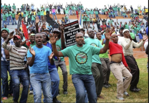 Rolling Blackouts on the cards as AMCU threaten secondary strike , AMCU represents about half of coal mine workers in SA