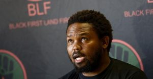 Cash-strapped BLF 'not ready' to defend itself in hate speech case and denies that slogans such as 'kill the farmer' kill the boer'' 'dubula Ibhunu'' 'one settler' one bullet' and 'land or death' are racist or constitute hate speech