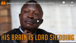 WATCH | More blatant ANC lies: South African deputy president, made some outlandish statements in parliament Is Mabuza's brain load shedding?