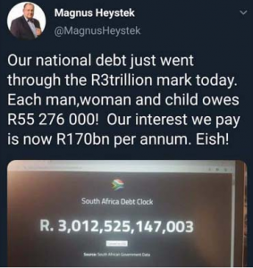 South Africa's disastrous debt of more than R3 trillion: How will the ANC pay it back?