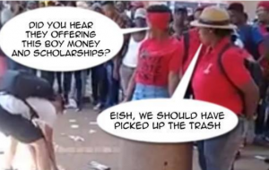 South Africa needs more people like Eckard Binding- Businessman from Pretoria donates scholarship to student who picked up EFF-trash during protest action at university