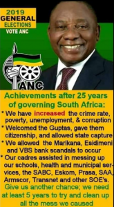 ANC Achievements after 25 years of governing South-Africa