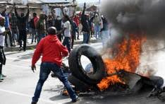 Mayhem and havoc broke out at Steynsrus as illegal protesters destroyed infrastructure and looted town