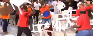 SA Political Circus in Full swing: Fists and chairs fly as EFF, Land Party members clash during live SABC elections debate