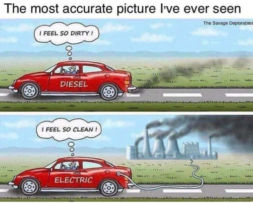 Electric cars dirty
