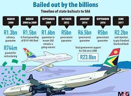 SAA splurging taxpayers money since 2011 and has been operating at a loss, the state entity needs yet another R4 billion bailout to remain afloat