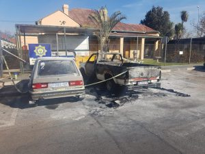 'Abusive' wife sets husband's car alight outside police station while he tried to open a protection order against her
